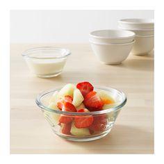 VARDAGEN Bowl, clear glass 15 cm clear glass Rice Bowls, Cereal Bowls, Ikea Vardagen, Sushi, Yogurt And Granola, Side Salad, Eating Habits, Bowl Set, Clear Glass