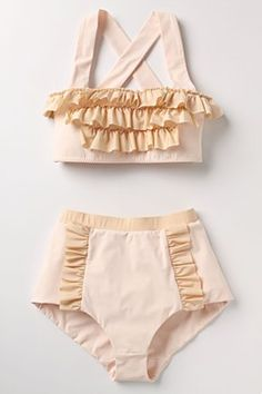 Adorable bathing suit.