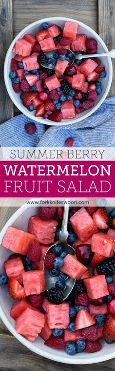 Berry Watermelon Fruit Salad | Fork Knife Swoon @forkknifeswoon