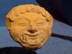 Gorgoneion Mask Greek 599-400 BCE Terracotta  Portland Museum