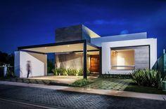 Diseño casa moderna de un piso   Construye Hogar