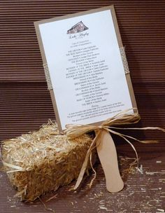 Rustic Barn Burlap Fan Wedding Program #EasyPin I would change the picture at the top