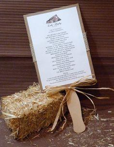 Rustic Barn Burlap Fan Wedding Program by designunfurls on Etsy