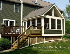 Searching for 3 season porch plans? A garden porch gives a fantastic and also receptive living area all the way through the summer season – possibly even into… Porch Kits, Porch Ideas, Roof Ideas, Balcony Ideas, Screened In Deck, Screened Porches, Four Seasons Room, Three Season Porch, Three Season Room