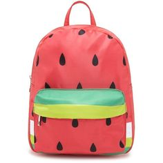 Forever21 Watermelon Mini Backpack ($25) ❤ liked on Polyvore featuring bags, backpacks, top handle bags, day pack backpack, forever 21 backpacks, backpack bags and forever 21