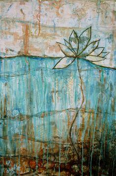 Transformation, fine art giclee print, lotus flower, water lily. $38.50, via Etsy.