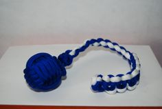 1 inch Steal Ball  Electric Blue /White Electric Blue, Paracord, Monkey, Blue And White, Bracelets, Jewelry, Jumpsuit, Jewlery, Jewerly