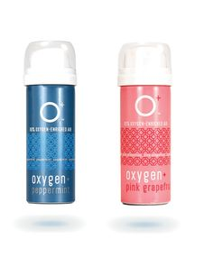O+ Mini - Peppermint & Pink Grapefruit. Also available in Natural. Each O+ Mini contains over 24 breaths of 95% enriched oxygen. Pocket-sized and very lightweight, its mighty in its tiny stature. A single O+ Mini is $7.99.