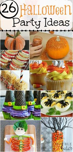 26 Ideas for decorations, games, and food for a Halloween Party! Totally Pinning this for later!