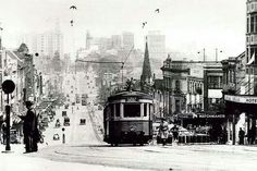 A tram travels up William St towards Kings Cross in 1930.Photo from State Records of NSW.A♥W
