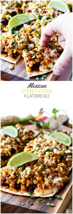 Mexican Street Corn Flatbread Pizza is an easy, crowd-pleasing appetizer for summer entertaining! It's everything you love about street corn but in a tasty flatbread bite! Plus you can make this recipe in 30 minutes or less! #ad @flatoutbread