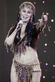 """Cher's Show-Stopping Style Redefines What It Means To Be 70 In 2005 Cher performs """"Farewell.. Never Can Say Goodbye Tour"""" in San Jose, California"""
