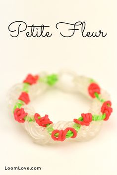 Such a pretty bracelet! How to Make a Rainbow Loom Petite Fleur Bracelet #rainbowloom #tutorial