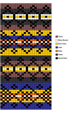 Fair Isle Draft Excluder Chart