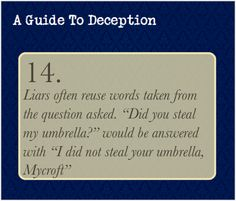 A Guide To Deception -MH<-I don't know why I find this so funny. XD