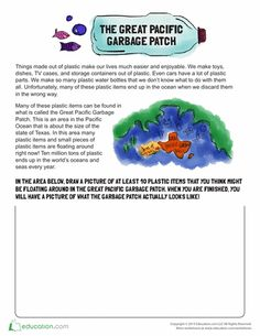 Here is a brief introduction to The Great Pacific Garbage Patch for kids! Letter H Worksheets, Graphing Worksheets, Social Studies Worksheets, Worksheets For Kids, Garbage In The Ocean, Great Pacific Garbage Patch, Ocean Lesson Plans, 2nd Grade Reading Comprehension, Science Fair