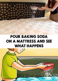 While the markets are full of cleaning products, the healthy options are just a few. Pour Baking Soda on a Mattress and See What Happens!