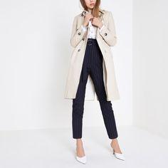 Cream belted trench coat - Coats - Coats & Jackets - women