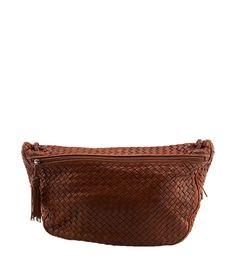 Bottega Veneta Vintage Brown Intrecciato Leather Shoulder Bag