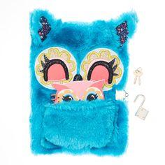 Blue Fluffy Owl Secret Diary