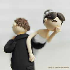 Cute couple wedding cake topper, Decoration, Gift