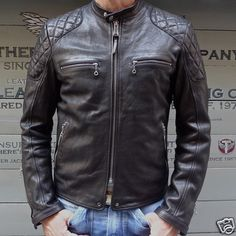 VINTAGE STYLE CAFE RACER LEATHER JACKET