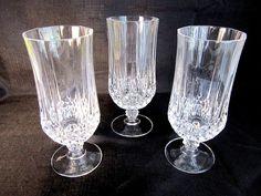 Crystal Water Tea Tumblers Cristal d Arques Longchamp Crystal Glassware, Longchamp, Tumblers, Tea, Crystals, Elegant, Tableware, Classy, Chic
