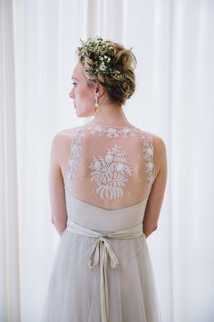 2014 Wedding Trends | Lace | Lace Wedding Inspiration | Lace Wedding Dress | Floral Crown | Halo Braid