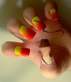 Creative Nail Art by Kayleigh O'Connor | Indiana Jones nail