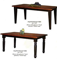 Amish Harvest & Farm Pine Tables from Lancaster PA -- maple top w/ pine legs, Milford Furniture, Milford, PA