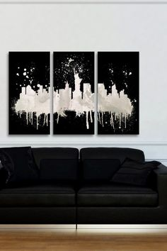 New York Skyline Canvas Wall Art - Set of 3 | by The Oliver Gal Artist Co.