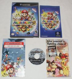 Mario Party 5 Nintendo Gamecube 100% Complete CIB Black Label manual inserts