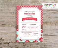 Invitación / rosas invitación / Floral invitación por FestivaParty