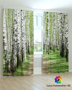 Neu! Fotogardinen Vorhänge in Luxus Fotodruck 3D. 2-tlg.