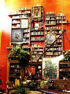 You can find a place for books anywhere.