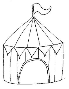 Circus Tent Coloring Page