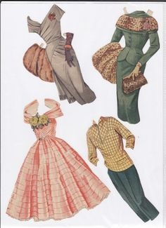 Danish paper doll clothes for Lily Broberg, Danish actress / dukkesiderne.dk