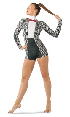 "We have to agree that this @justforkix #biketard is ""Perfectly Suited""! #FashionFriday #DanceFashion #CostumeInspiration"