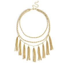 """An easy way to try out the fringe trend... Sole Society """"Rope and Fringe Necklace"""""""