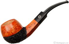 I like these that are partially rusticated, or two-toned.  Mark Tinsky Partially Rusticated Bent Apple Pipes at Smoking Pipes .com