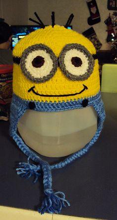 Crochet Despicable Me Minion Earflap Beanie Hat - Free Pattern