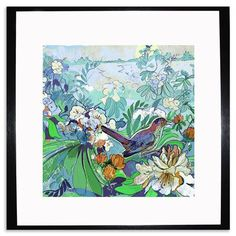 Shelly Perkins - Nightingales Lullaby, Framed Print, 25x25cm, $35 !!