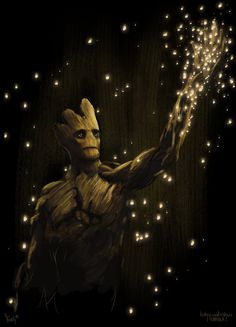 I am Groot, drawn in PS Guardians of the Galaxy is about the best thing to happen in the year so far