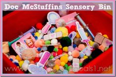 Doc McStuffins Sensory and Imagination Bin