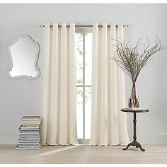 Featuring subtle textures, pretty patterns and semi-sheers the Anthology Window Curtain Panels bring a touch of style to any room. The panels work well alone or layered with coordinating panels (sold separately). The panels also hang on stylish grommets.