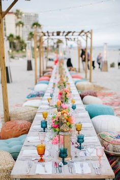 Bohemian Party Decorations, Dinner Party Decorations, Reception Decorations, Wedding Show, Wedding Reception, Wedding Gallery, Wedding Decor, Beach Dinner Parties, Ibiza Party