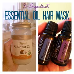 3-Ingredient Essential Oil Hair Mask -- Love this. It's perfect for my frizzy hair
