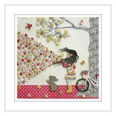 Bubble Love 3D paper cut wall art  www.roxyoxy.com.au