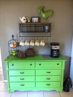 coffee bar ideas... here's this shelf again!  and I like the storage thingy on the left side, for k cups?