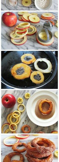 Mmmm. delicious breakfast with apple and sugar